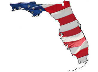 u.s. flag over Florida