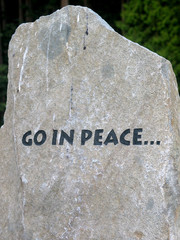 Stone Engraved with Go In Peace