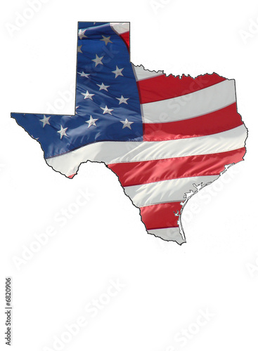 us flag over texas