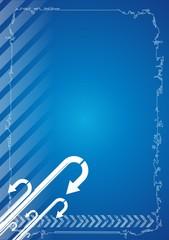 fondo azul con flechas