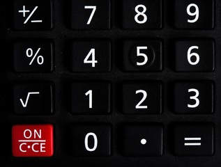 Black basic calculator buttons