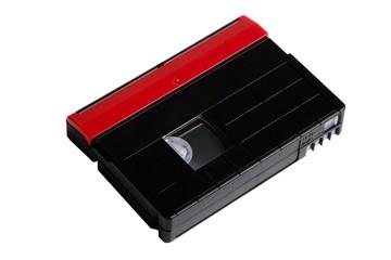 Mini DV video cassette on a white background