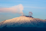volcano Etna at the sunset poster