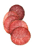 food - german pepper salami sausage sliced poster