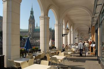 Hamburg mit Rathaus und Binnenalster
