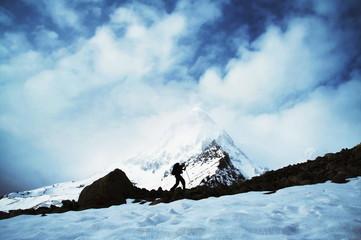 Shivling peak in Himalayan