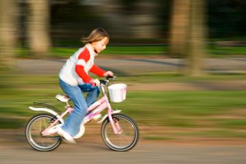 biking fast