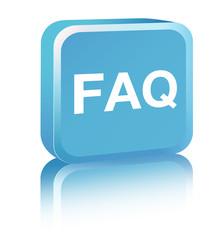FAQ sign - blue
