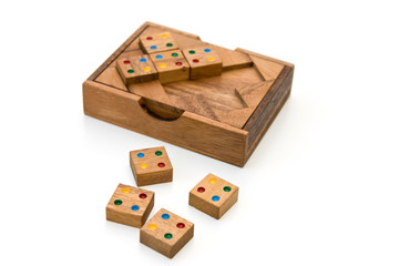 Wooden game isolated on white