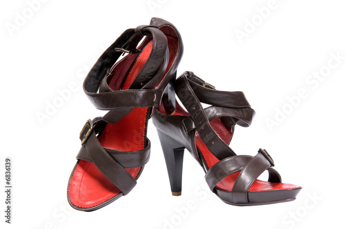 pair of woman sandals