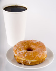 Take-away Coffee and Donut