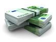 Leinwandbild Motiv Stack of 100€ bills