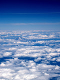Arial View Mount Top in clouds