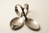 Two crossed amuse-bouche spoons poster