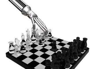 robots glass chess
