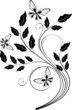 ornamental design element with butterflies - vector