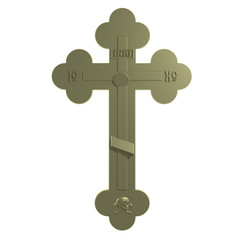 Golden Christian Cross.