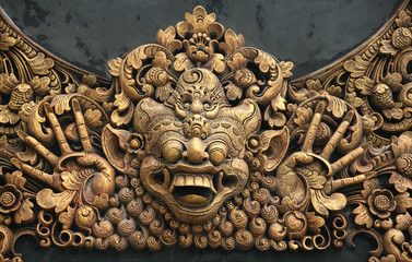 Carving at Pura