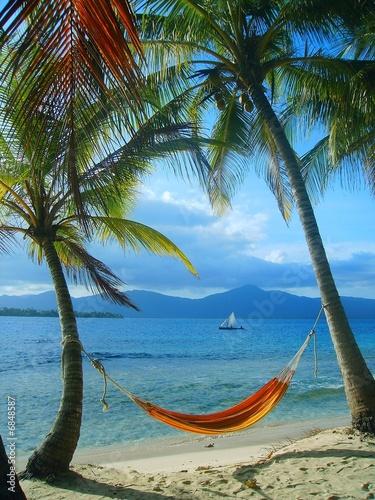 Leinwanddruck Bild San Blas-Panama... Lo mas parecido al paraiso