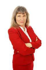 Angry Mature Businesswoman
