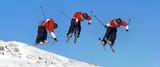 Naklejka Saut a ski