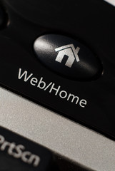 The web home page button on a keyboard.