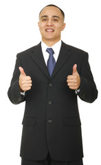 Business Man Showing Two Thumbs