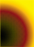 Halftone inspired abstract background in red yellow and black poster