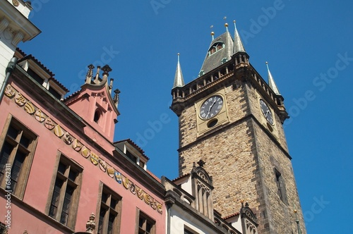 tower with clock in prague