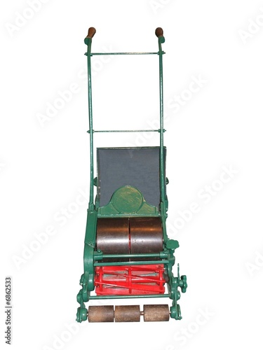 an old fashioned push along lawn mower from daseaford royalty free stock photo 6862533 on. Black Bedroom Furniture Sets. Home Design Ideas