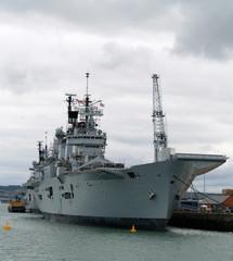 British Aircraft Carrier Naval Ship