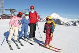Fototapeta Ski famille