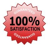 100% satisfaction guaranteed seal poster