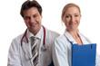 Happy medical team or hospital staff
