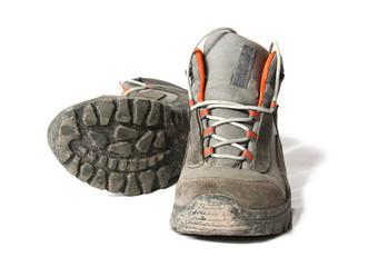 Dirty trekking shoes