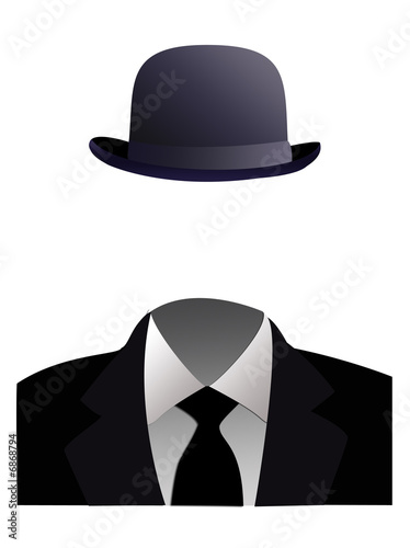 Invisible man concept