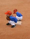 Boys Playing Infield During Baseball