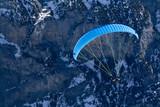 Paragliding. Extreme sports. Jungfrau region, Swiss Alps poster