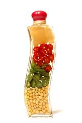 Vegetables in the bottle