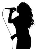 Fototapety Female singing