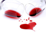 Red wine spilled from glasses - Fine Art prints