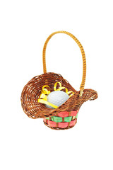 Golf ball in mini gift basket