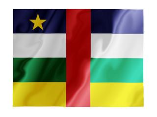 Central African Republic fluttering