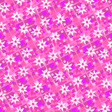 Pink repeating abstract flower background poster