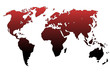 Planisphère : dégradé de noir vers rouge