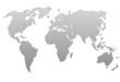 Planisphère : dégradé de gris