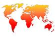 Planisphère : dégradé d'orange