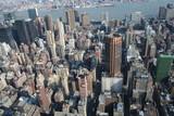 vista aerea di Manhattan poster