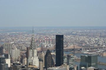 i famosi grattacieli di New York visti dall'alto