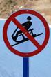 panneau interdiction neige luge
